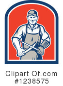 Royalty-Free (RF) Butcher Clipart Illustration #1238575