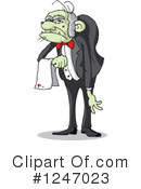 Royalty-Free (RF) Butler Clipart Illustration #1247023