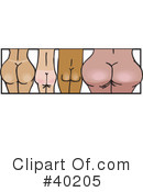 Royalty-Free (RF) Butt Clipart Illustration #40205