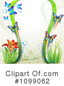 Royalty-Free (RF) Butterflies Clipart Illustration #1099062
