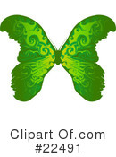 Royalty-Free (RF) Butterflies Clipart Illustration #22491