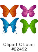Royalty-Free (RF) Butterflies Clipart Illustration #22492