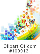 Butterfly Background Clipart #1099131