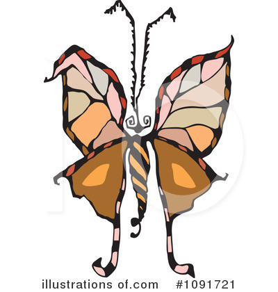 Moths Clipart #1091721 by Steve Klinkel