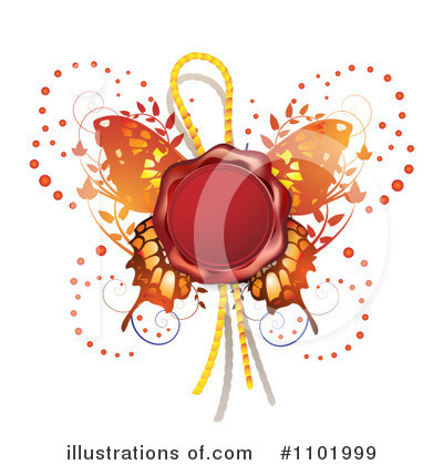 Royalty-Free (RF) Butterfly Clipart Illustration by merlinul - Stock Sample #1101999