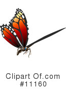 Royalty-Free (RF) Butterfly Clipart Illustration #11160