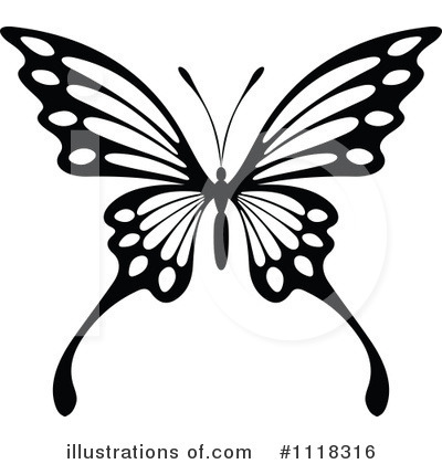 Butterfly Clipart #1118316 by Vector Tradition SM