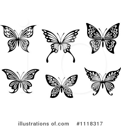 Butterfly Clipart #1118317 by Vector Tradition SM