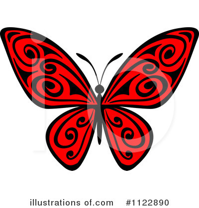 Butterfly Clipart #1122890 by Vector Tradition SM