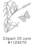 Royalty-Free (RF) Butterfly Clipart Illustration #1129270
