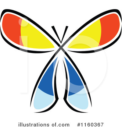 Butterfly Clipart #1160367 by Vector Tradition SM