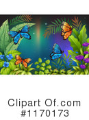 Royalty-Free (RF) Butterfly Clipart Illustration #1170173