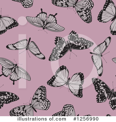 Royalty-Free (RF) Butterfly Clipart Illustration by AtStockIllustration - Stock Sample #1256990