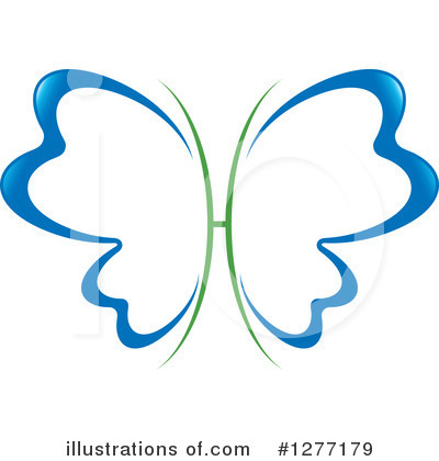 Royalty-Free (RF) Butterfly Clipart Illustration by Lal Perera - Stock Sample #1277179