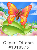 Royalty-Free (RF) Butterfly Clipart Illustration #1318375
