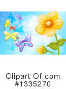 Royalty-Free (RF) Butterfly Clipart Illustration #1335270