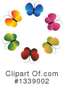 Butterfly Clipart #1339002 by ColorMagic