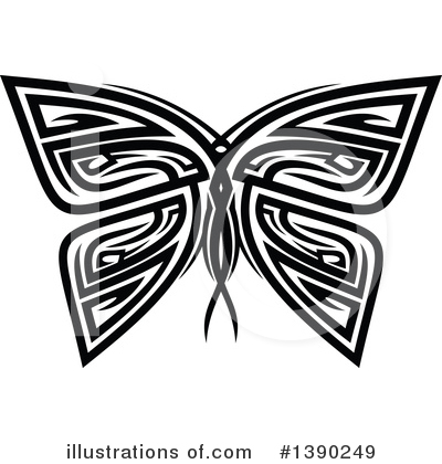 Moths Clipart #1390249 by Vector Tradition SM