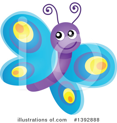 Butterfly Clipart #1392888 by visekart