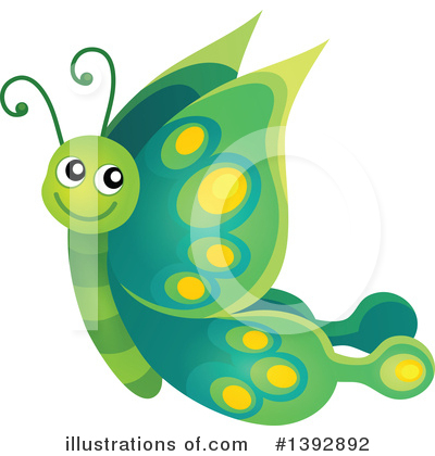 Royalty-Free (RF) Butterfly Clipart Illustration by visekart - Stock Sample #1392892