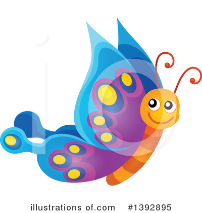 Royalty-Free (RF) Butterfly Clipart Illustration by visekart - Stock Sample #1392895