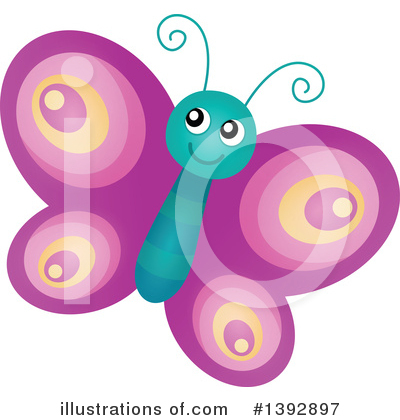Royalty-Free (RF) Butterfly Clipart Illustration by visekart - Stock Sample #1392897