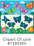 Royalty-Free (RF) Butterfly Clipart Illustration #1392950