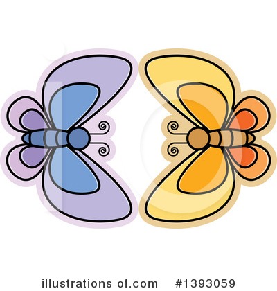 Butterfly Clipart #1393059 by Lal Perera