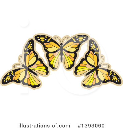 Butterfly Clipart #1393060 by Lal Perera