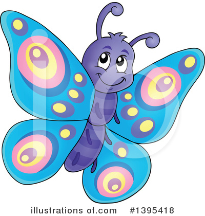 Royalty-Free (RF) Butterfly Clipart Illustration by visekart - Stock Sample #1395418