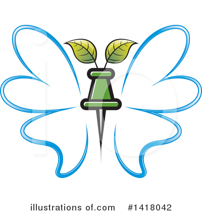 Butterfly Clipart #1418042 by Lal Perera