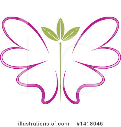 Butterfly Clipart #1418046 by Lal Perera