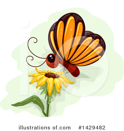 Butterfly Clipart #1429482 by BNP Design Studio