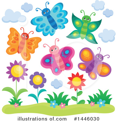 Butterfly Clipart #1446030 by visekart
