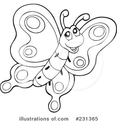 Butterfly Clipart #231365 - Illustration by visekart