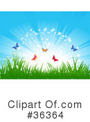 Royalty-Free (RF) Butterfly Clipart Illustration #36364
