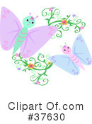 Royalty-Free (RF) Butterfly Clipart Illustration #37630