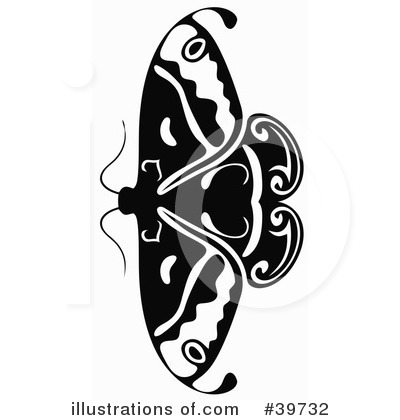 Moths Clipart #39732 by dero