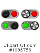 Royalty-Free (RF) Buttons Clipart Illustration #1086756