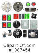 Royalty-Free (RF) Buttons Clipart Illustration #1087454