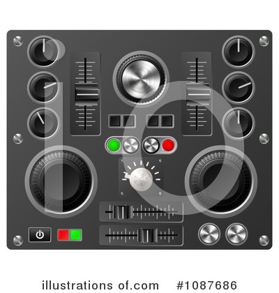 Dj Clipart #1087686 by AtStockIllustration