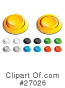 Royalty-Free (RF) Buttons Clipart Illustration #27026