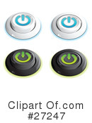Royalty-Free (RF) Buttons Clipart Illustration #27247