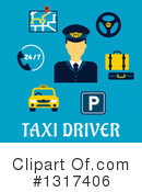 Royalty-Free (RF) Cab Driver Clipart Illustration #1317406