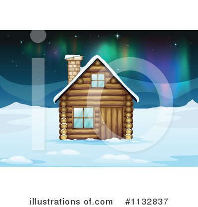 Royalty-Free (RF) Cabin Clipart Illustration by Graphics RF - Stock Sample #1132837