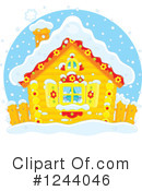 Royalty-Free (RF) Cabin Clipart Illustration #1244046