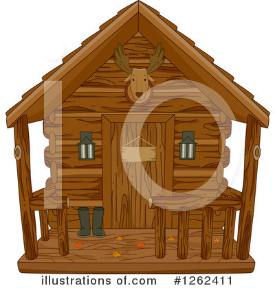 Royalty-Free (RF) Cabin Clipart Illustration by BNP Design Studio - Stock Sample #1262411