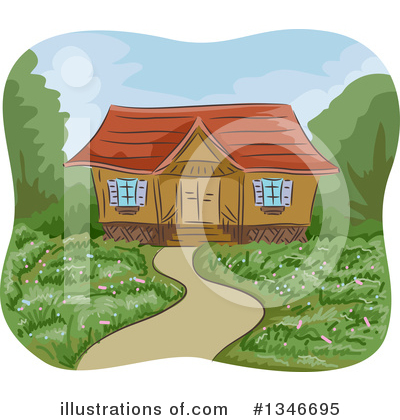 Cabin Clipart #1346695 by BNP Design Studio