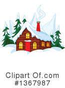 Royalty-Free (RF) Cabin Clipart Illustration #1367987