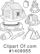 Royalty-Free (RF) Cabin Clipart Illustration #1408955
